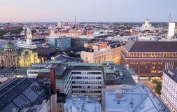 Aerial panorama of Helsinki, Finland Royalty Free Stock Images