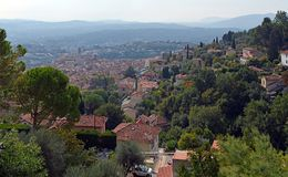 Aerial Panorama of Vence, Provence France Royalty Free Stock Photography