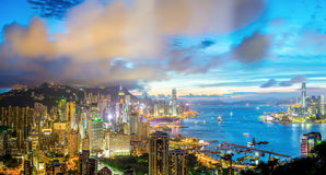 Aerial Panorama Hong Kong Stock Images