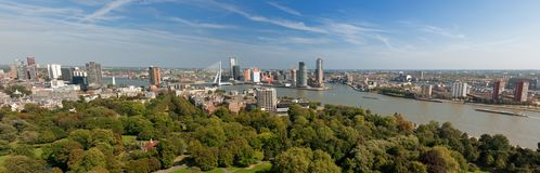 Aerial panorama image of  Rotterdam Stock Photography