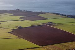 Aerial panorama of Isle of Man Royalty Free Stock Photo