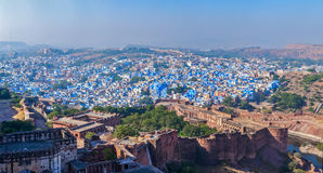 Aerial panorama of Jodhpur. Rajasthan, India Royalty Free Stock Photos