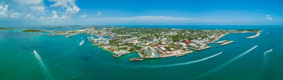 Aerial panorama Key West Florida stock image royalty free stock images