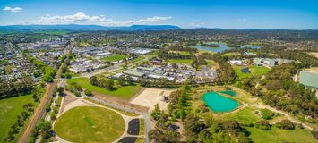 Lilydale suburb and mountains. stock photos