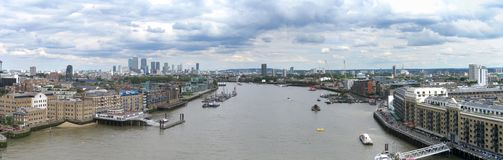 Aerial panorama of London Royalty Free Stock Images