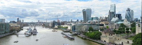 Aerial panorama of London Royalty Free Stock Photos