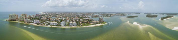 Aerial panorama Marco Island Florida. USA summer 2018 shot with a drone royalty free stock photo