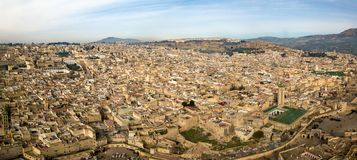 Aerial panorama of Medina in Fes, Morocco Stock Photos