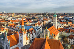 Aerial panorama of Munich city center Stock Image