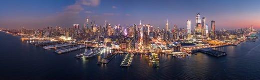 Aerial panorama of New York skyline stock image