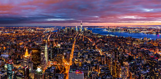 Aerial panorama of New York Stock Photo