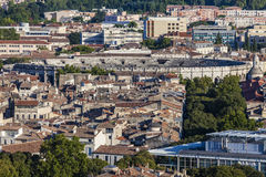 Aerial panorama of Nimes Stock Images
