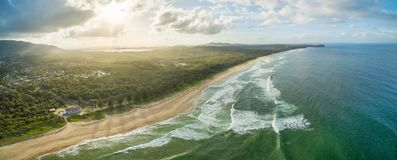 Aerial panorama of North Haven Beach. Stock Image