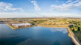 Aerial panorama of northern Colorado Royalty Free Stock Photo