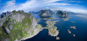 Aerial panorama of Norway Stock Image