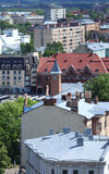 Aerial panorama of old city Royalty Free Stock Images