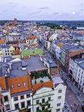 Aerial view of Old Town in Torun, Poland stock photo