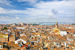 Aerial panorama of old Venice, Italy Stock Image