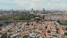 Aerial panorama of the outskirts of the city of Jakarta. Indonesia. stock video