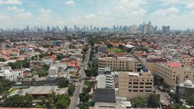 Aerial panorama of the outskirts of the city of Jakarta. Indonesia. stock video footage