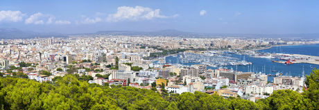 Aerial panorama of Palma de Majorca Stock Photos