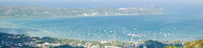Aerial Panorama Pier Phuket Thailand Stock Photos