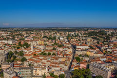 Aerial panorama of Pula Royalty Free Stock Photos