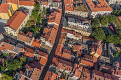 Aerial panorama of Pula Stock Image