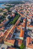 Aerial panorama of Pula Stock Photos
