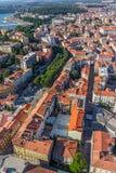 Aerial panorama of Pula Stock Photos