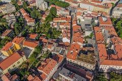 Aerial panorama of Pula Royalty Free Stock Image