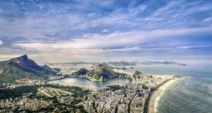 Aerial panorama of Rio de Janeiro Royalty Free Stock Photography