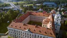 Aerial panorama of Rzeszow. Poland Stock Images