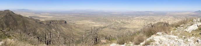 An Aerial Panorama of the San Pedro Valley, Arizona, from Miller. An Aerial Panorama of the San Pedro Valley Area, Arizona, from Miller Peak, Huachuca Mountains royalty free stock photos