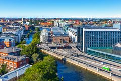 Aerial panorama of Stockholm, Sweden. Scenic summer aerial panorama of Stockholm, Sweden Royalty Free Stock Image
