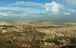 Aerial Panorama of Tehran Skyline Royalty Free Stock Photos