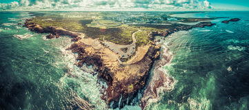Aerial panorama of Thunder Point lookout and Warrnambool Stock Photos