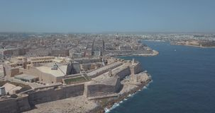 Aerial panorama view of Ancient capital city of Valletta, Malta