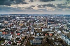 Jonava city, aerial stock images