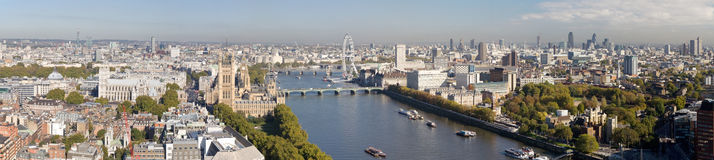 Aerial panorama view on London. royalty free stock photo