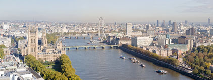 Aerial panorama view on London. Stock Photo