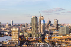 Aerial panorama view on London. View towards Houses of Parliamen Stock Images