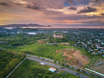 Aerial panorama view on Managua city Royalty Free Stock Photography