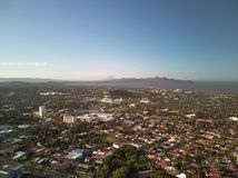Aerial panorama view of Managua city royalty free stock image