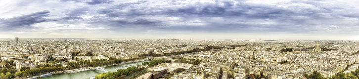 Aerial panorama View on Paris, France Royalty Free Stock Photography