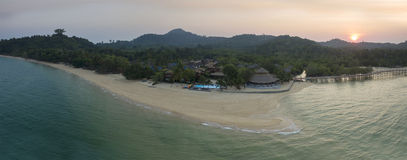 Aerial panorama view of payam island ranong andaman sea southern Stock Photos