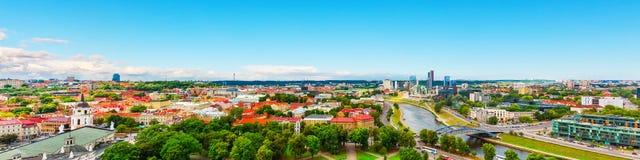 Aerial panorama of Vilnius, Lithuania Royalty Free Stock Photos