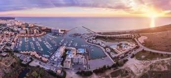 aerial Panorama vom Himmel, Fremdenverkehrsort Vilamoura Stockbild