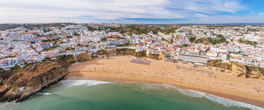 aerial Panorama von Albufeira in Algarve-Region, Portugal Stockbild