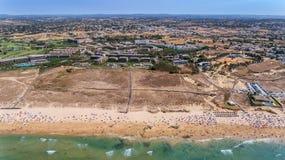 aerial Panorama von Albufeira-Antenne in Algarve-Region, Portugal, Lizenzfreie Stockfotografie